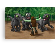How to Train Your Dinosaur Canvas Print