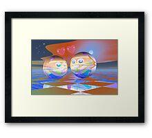 Moonlight date Framed Print