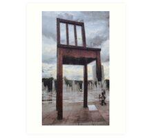 The Broken Chair Art Print