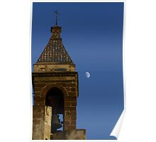 Moon and Steeple Poster