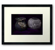 Art show Pottery Framed Print