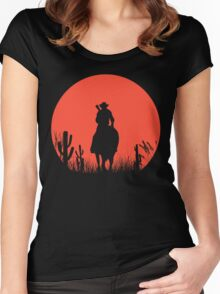 Lonesome Cowboy Women's Fitted Scoop T-Shirt