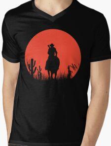 Lonesome Cowboy Mens V-Neck T-Shirt