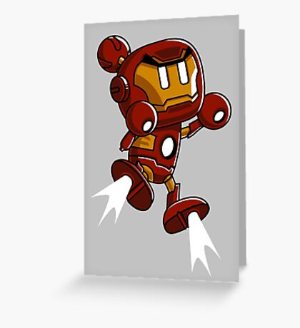 Super Iron Bomb Man Greeting Card