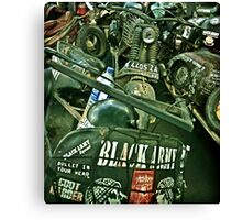 Black Army Canvas Print