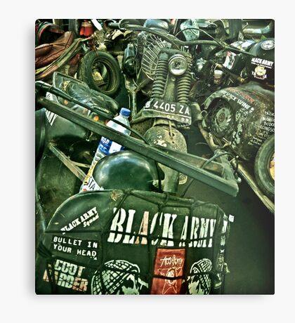 Black Army Metal Print