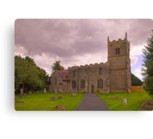 St Edmunds Church Walesby, notts. (The other side) Canvas Print