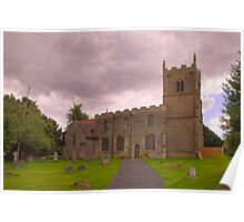 St Edmunds Church Walesby, notts. (The other side) Poster