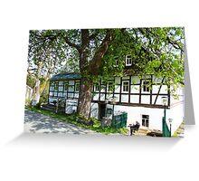 Mountain Inn in Saxony Greeting Card