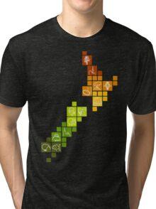 New Zealand Fun Map Tri-blend T-Shirt