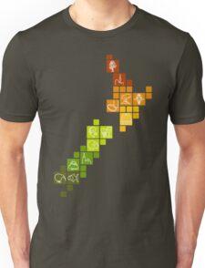 New Zealand Fun Map Unisex T-Shirt