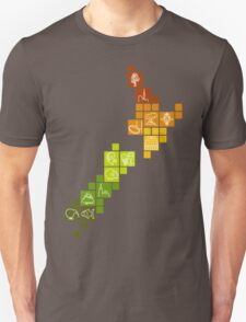New Zealand Fun Map T-Shirt