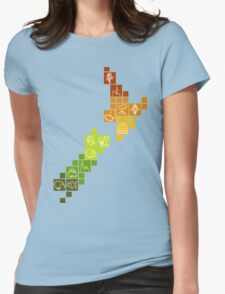 New Zealand Fun Map Womens Fitted T-Shirt