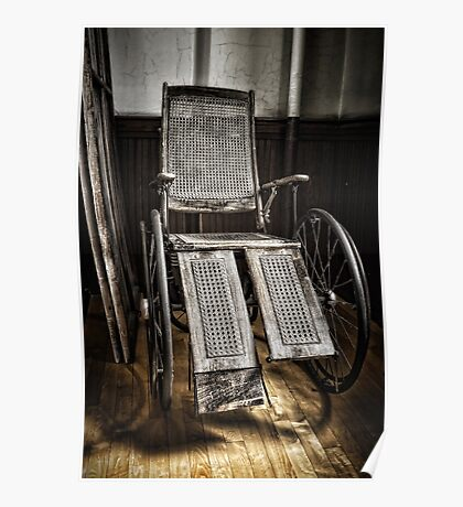 Antique Wheelchair Poster