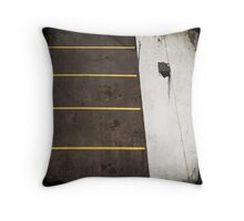 Parking Lot From Above Throw Pillow