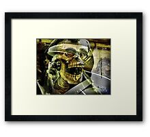 It Stalks ALL of us... Framed Print