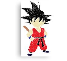 Little Saiyan Drawing Canvas Print