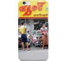Yangon street scene iPhone Case/Skin