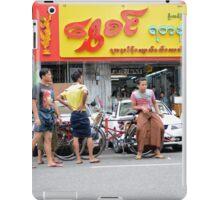 Yangon street scene iPad Case/Skin