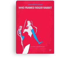 No271 My ROGER RABBIT minimal movie poster Canvas Print