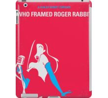No271 My ROGER RABBIT minimal movie poster iPad Case/Skin
