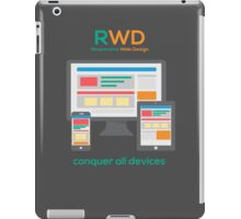 RWD - Conquer All Devices iPad Case/Skin