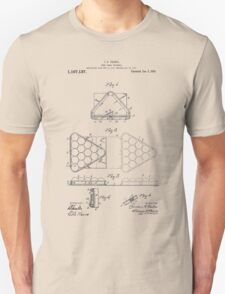 Pool table triangle patent from 1915 Unisex T-Shirt