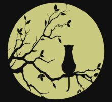 The Cat And The Moon (v2) T-Shirt