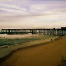 Pier at Sundown by ericafaye