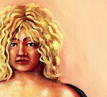 portrait of    yoyo by Trish Threlfall