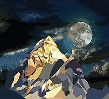 Night Mountains No. 10 by BakmannArt