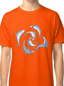 School of Happy Sharks Classic T-Shirt
