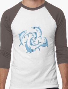 School of Happy Sharks Men's Baseball ¾ T-Shirt
