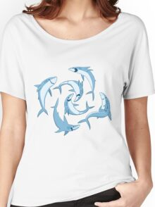 School of Happy Sharks Women's Relaxed Fit T-Shirt