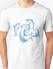 School of Happy Sharks T-Shirt