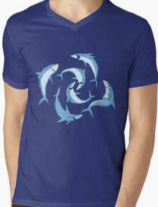 School of Happy Sharks Mens V-Neck T-Shirt