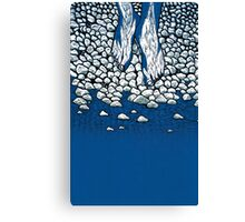 I Might Be A Part Of This Ripple On Water (3 Colour) Canvas Print