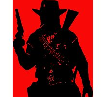 Cowboy Silhouette Photographic Print