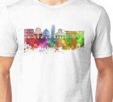 Pisa skyline in watercolor background Unisex T-Shirt