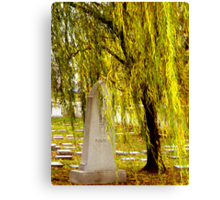 Scenic Cemetry Canvas Print