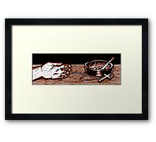 One Serving Framed Print