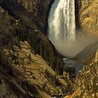 Lower Falls on the Yellowstone River by Joe Elliott
