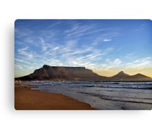 Cape Town: Table Mountain Canvas Print