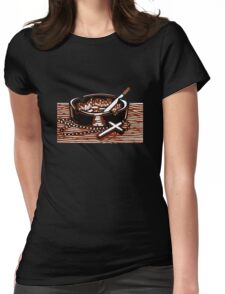Cigarettes and God. Womens Fitted T-Shirt