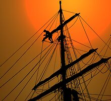 Repairing The Sail  by CarolM