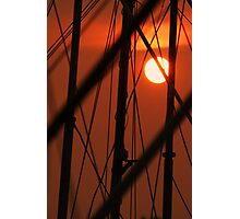 Sunset Rigging Photographic Print