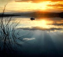 Sunset Fishing by Claudia Kuhn