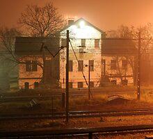 Night walking around Wroclaw #3 by PawKam
