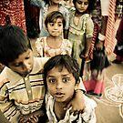 Village children by Marlies van Kampen