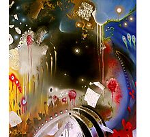 'Dancing in the Void' - Pink Floyd (No. 4 of the Rock Music Art Series) Photographic Print